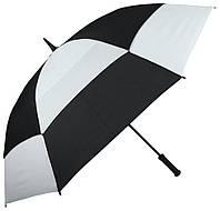 Мужской черно-белый противоштормовый зонт, антиветер, механический FULTON FULS669-Black-White