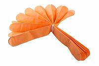 Помпон из тишью, ярко-оранжевый, 35 см