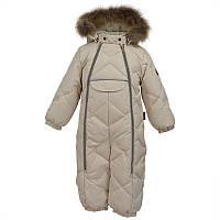 Зимний комбинезон-пуховик для мальчика, модель BEATA 1, цвет light beige