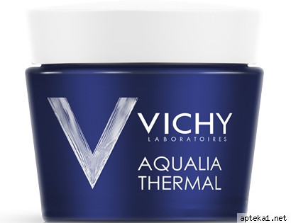 ВІШІ Аквалия Термаль нічний спа крем-гель для глибокого зволоження шкіри і зняття втоми 75мл