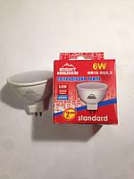 Лампа светодиодная MR16 6W GU5.3 4000K R63  Right Hausen LED