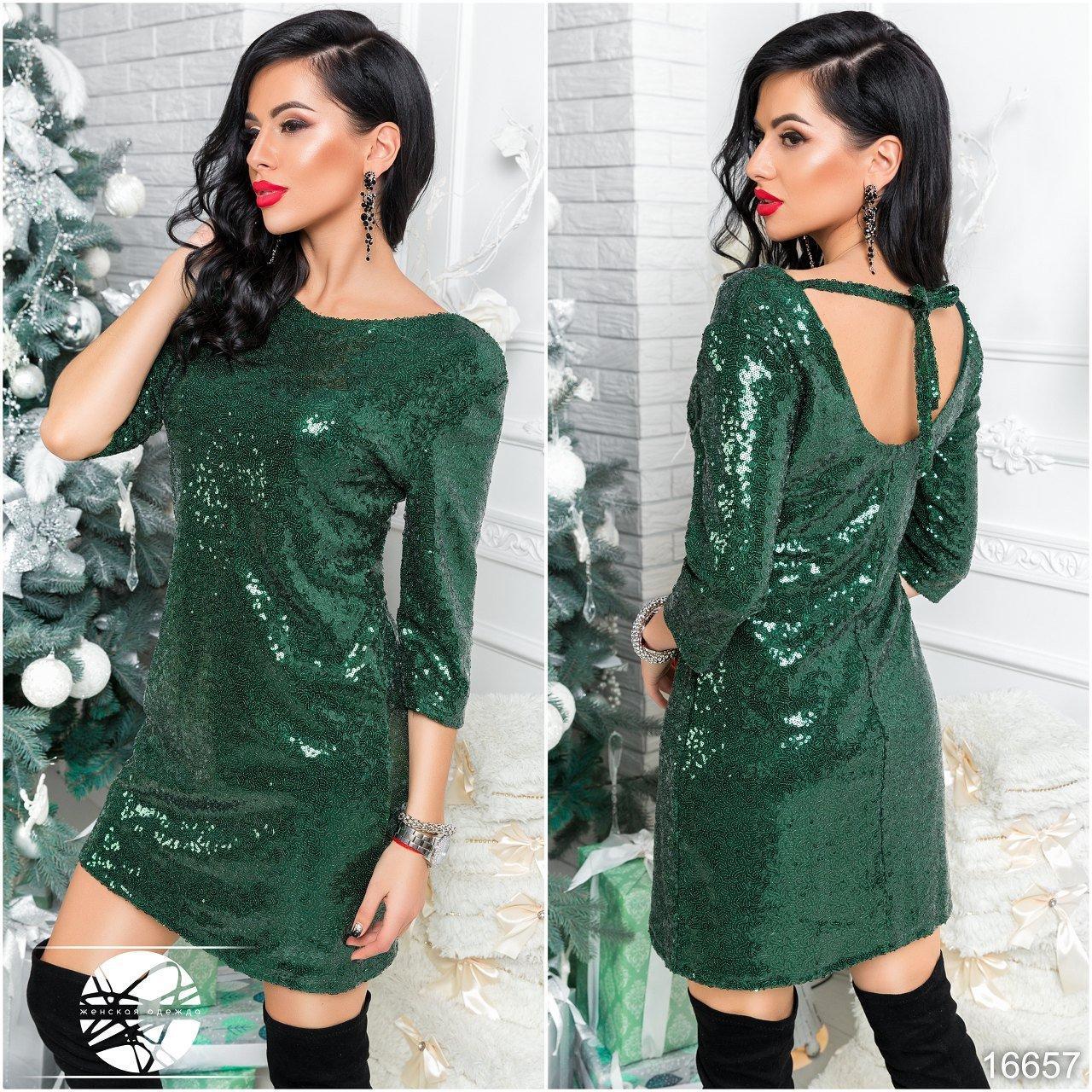 588e856cc8c72c9 Вечернее платье с пайетками зеленого цвета. Модель 16657. Размеры 42-46 -  Irse