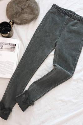 Женские джинсы с мехом , фото 2