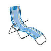 Шезлонг для детей на дачу Garden4you TRIP 142x57 5xH102cm  blue white striped