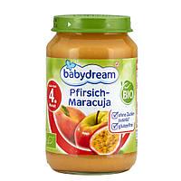 Babydream Пюре фруктовое: персик и маракуйя 190 г  с 4-го мес.