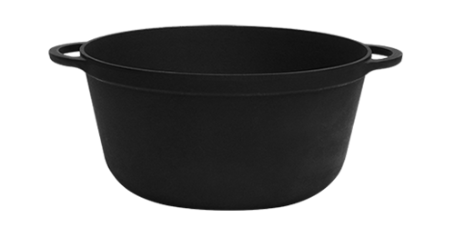 Чавунна каструля (d=300 мм, h=140 мм, V=8 л)