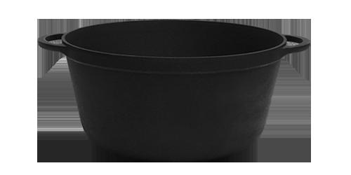 Чугунная кастрюля (d=260 мм, h=130 мм, V=5,5 л)