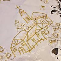 Скатерть 180х140  с вышивкой  на Рождество