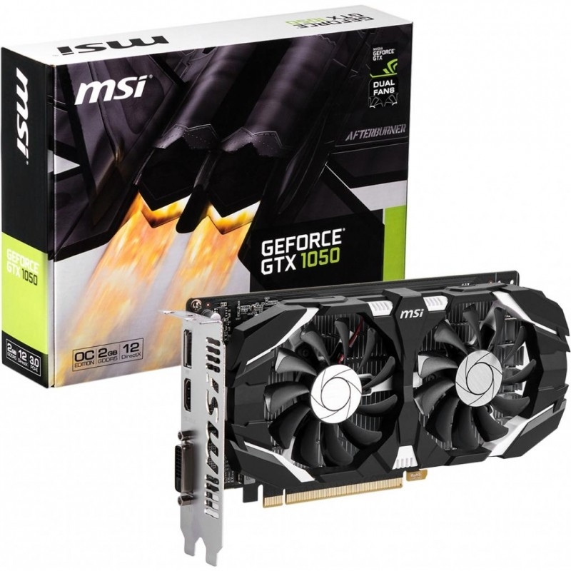 "Видеокарта MSI GTX1050 2GT OC 2GB GDDR5 (128bit) ""Over-Stock"""