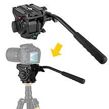Видеоголова для штатива или монопода Kingjoy VT-3510 (голова аналог Manfrotto 701HDV), фото 3