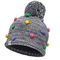 Шапка Buff Child Knitted & Polar Hat Odell Grey Vigore/Grey Vigore