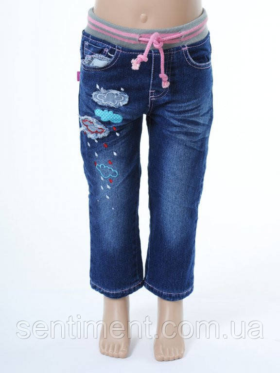7e41979d71c9 Утепленные детские джинсы на флисовой подкладке для девочек. Оптом.