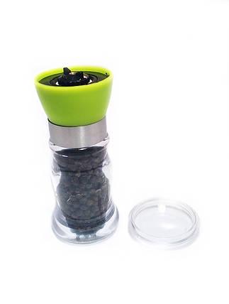 Мельница для перца (мол для перца, перцемолка) зеленая, фото 2