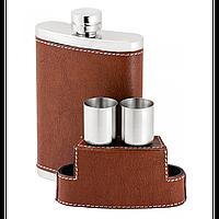 Подарочная фляга с рюмками 2 шт. Фляжка для напитков для охотника и рыыбака.