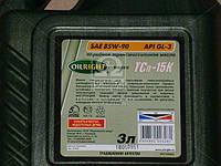 Масло трансмисс. OIL RIGHT ТСп-15к SAE 90 GL-3 (Канистра 3л) 2550, AAHZX