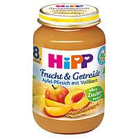 HiPP Фрукты & Зерновые: яблоко-персик 190 г  с 8-го мес.