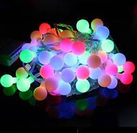 Новогодняя гирлянда с фигурками, шарики 100 LED мульти 7 метров