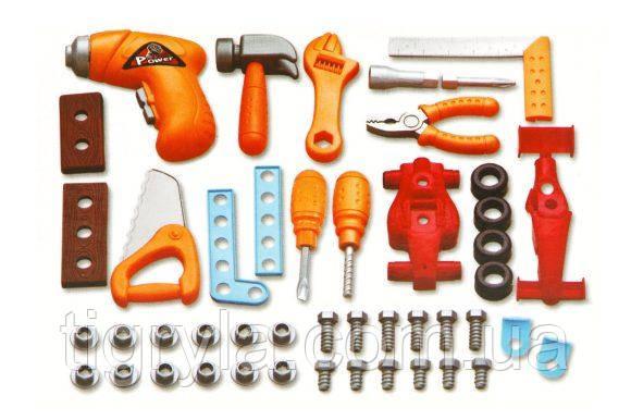Набор инструментов в чемодане, конструктор с шуруповертом - дрель для сборки , фото 2
