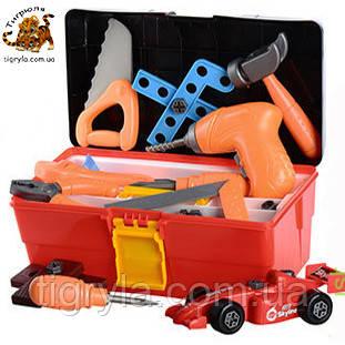 Набор инструментов в чемодане, конструктор с шуруповертом - дрель для сборки