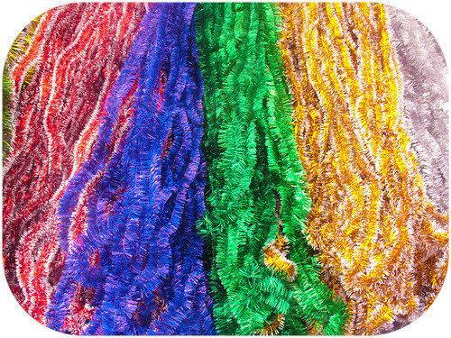 Мишура Новогодняя d=2 см, длинна 3 м ,100 шт/в упаковке. (1 уп.) 5 расцветок