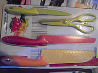 Набор ножей Kitchen Knife B-20, набор ножей, 4 предметов, Кнайф, кухонные ножи. столовые ножи. подставки