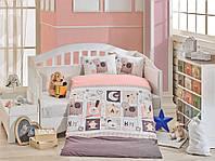 Комплект постельного белья в детскую кроватку HOBBY Sweet Home розовый