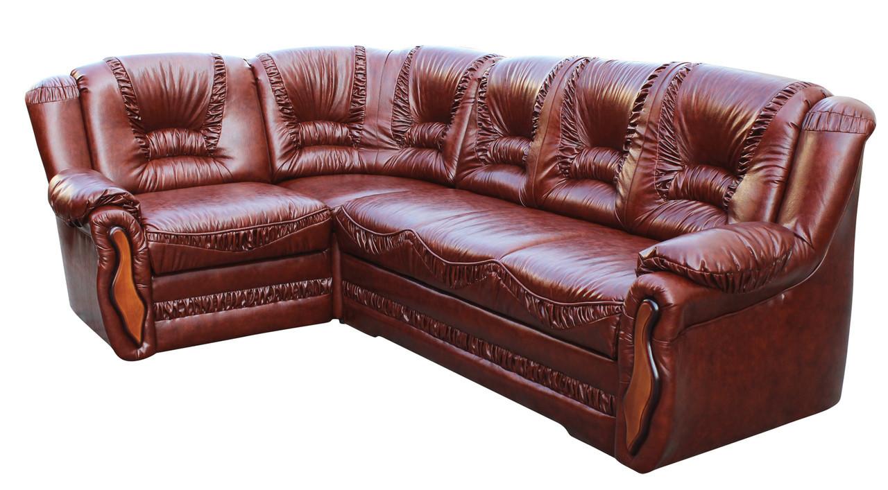 """Кутовий диван в шкірі """"Васко"""". (265*185 см)"""