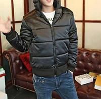Мужская демисезонная куртка черная, фото 1