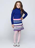 Платье темно-синее полоск, фото 1