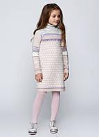 Платье  для девочек зимнее цвет пудра, фото 1