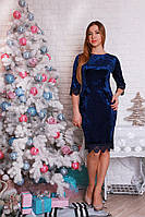 Копия Нарядное платье из велюра р.46-50 Y315-2