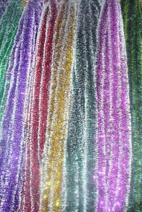 Мишура Новогодняя с белыми кончиками , d = 5 см,3 м ,100 шт/в упаковке. (1 уп.) 5 расцветок, фото 2