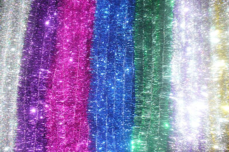 Новорічна мішура , d = 5 см,3 м ,100 шт/в упаковці. (1 уп.) 5 кольорів