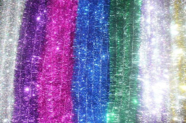 Новорічна мішура , d = 5 см,3 м ,100 шт/в упаковці. (1 уп.) 5 кольорів, фото 2