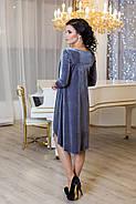 Женское платье разлетайка Солнышко цвет серый / размер 42-50, фото 2