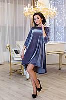 Женское платье разлетайка Солнышко цвет серый / размер 42-50