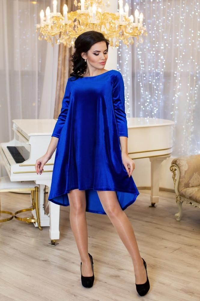 Женское платье разлетайка Солнышко цвет электрик / размер 42-50