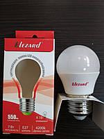 Лампа светодиодная LED 7W E27 4200К шарик Lezard