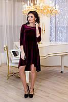 Женское платье разлетайка Солнышко цвет бордо / размер 42-50