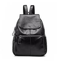 Рюкзак  женский городской кожаный  (черный), фото 1