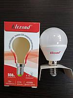 Лампа светодиодная LED 7W E14 4200К шарик Lezard
