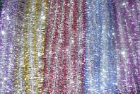 Мишура Новогодняя , d = 5 см,3 м ,100 шт/в упаковке. (1 уп.) 5 расцветок