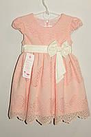 Платье на девочку персиковое 3,5,7 лет Польша