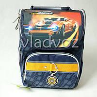 Школьный каркасный рюкзак Yes для мальчиков Racing синий