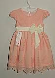 Платье на девочку персиковое 3,7 лет Польша арт 467467, фото 4