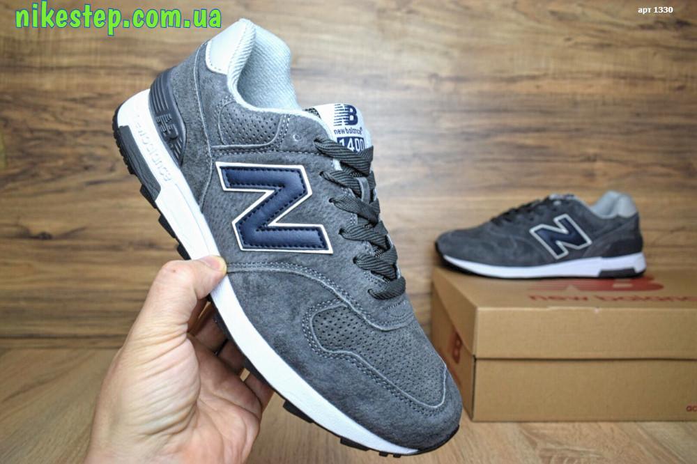 09f750648b14 Мужские+подростковые кроссовки New Balance 1400 серые в замше реплика+живые  фото