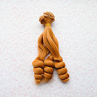 Волосы для кукол кудри на концах в трессах, карамельный блонд - 15 см