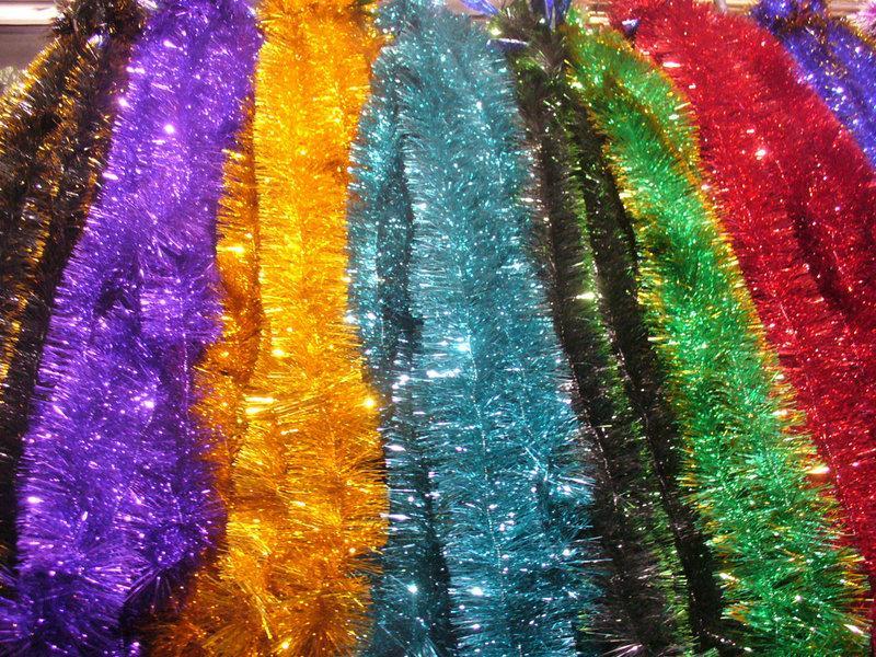 Мишура Новогодняя , микс расцветок d = 10 см,3 м ,50 шт/в упаковке. (1 уп.) 5 расцветок