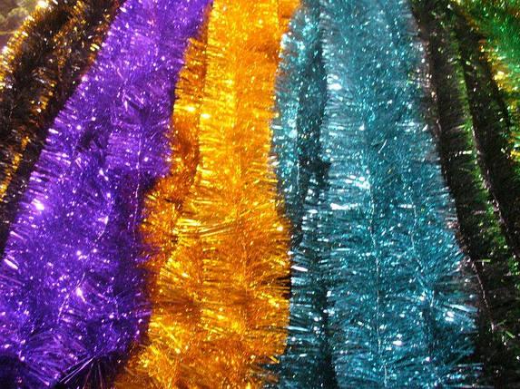 Мишура Новогодняя , микс расцветок d = 10 см,3 м ,50 шт/в упаковке. (1 уп.) 5 расцветок, фото 2