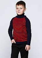 Свитер для мальчика с красными полосками, фото 1